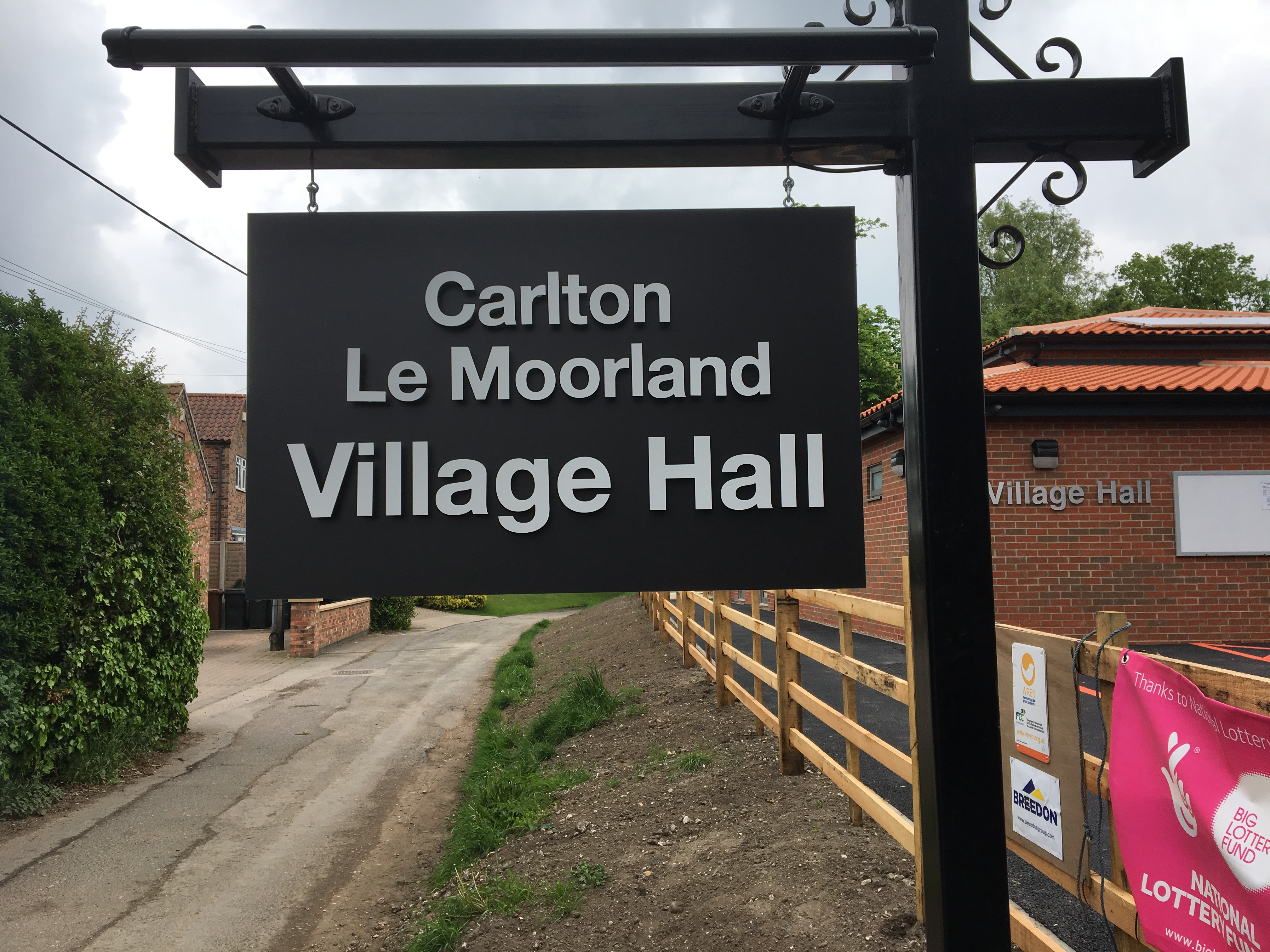 Village Hall Sign